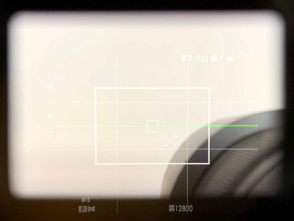 XF56mm F1.2 R ファインダー